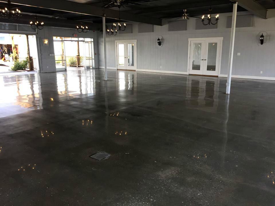 Shiny Gray Concrete Floor   My Floor Restore   Lakeland, FL   If we can't restore it, you'd better refloor it!